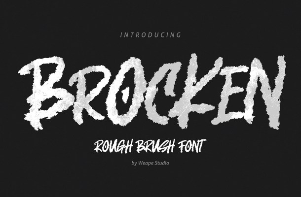 Brocken Caps Rough Font