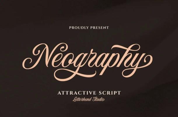 Neography Script Font