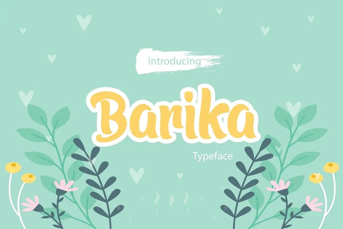 Barika Display Font-1
