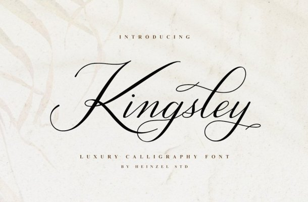 Kingsley Luxury Calligraphy Font