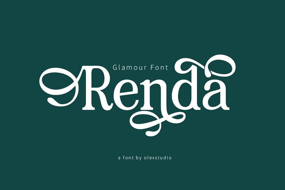 Renda Bold Modern Serif Font01-