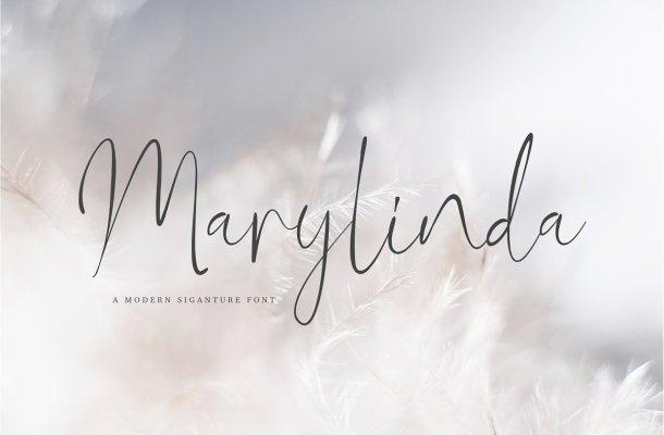 Marylinda Beauty Signature Script Font