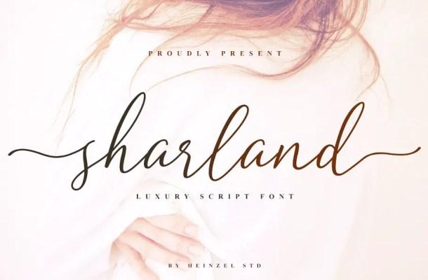 Sharland Luxury Script Font