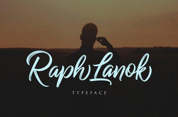 Raph Lanok Typeface Font