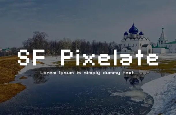 SF Pixelate Font Family
