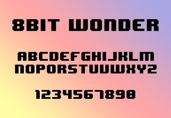 8 Bit Wonder Font