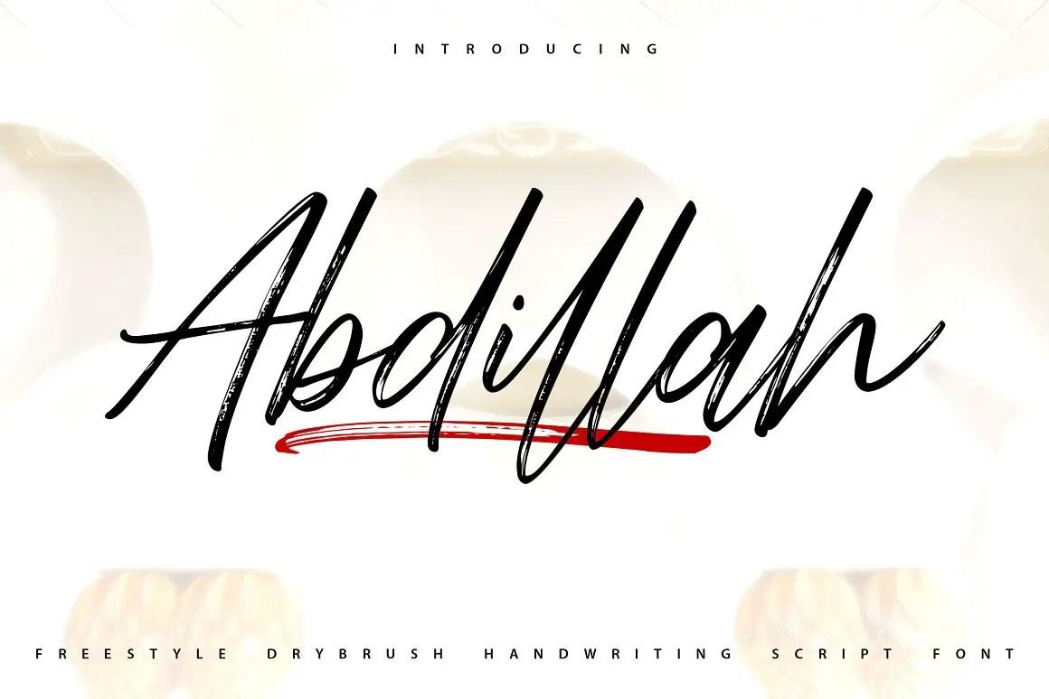 Abdillah Dry Brush Script Font-1