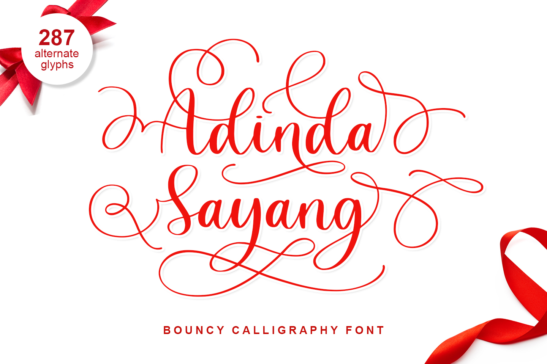 Adinda Sayang Calligraphy Script Font-1