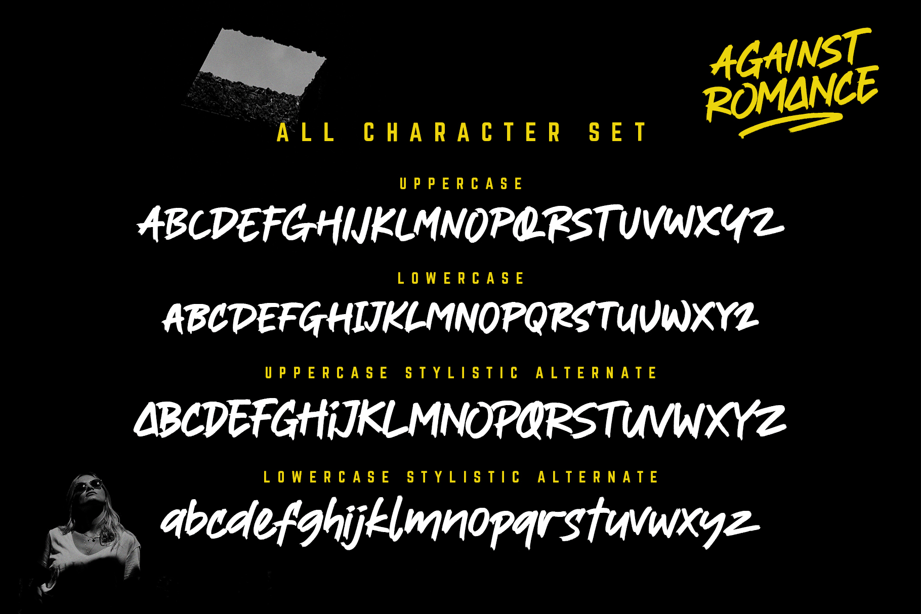 Against Romance Script Brush Font-3