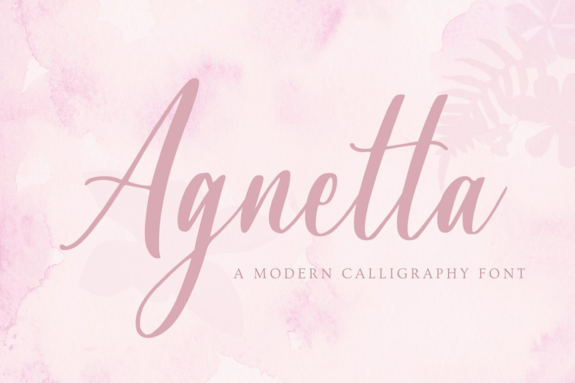 Agnetta Calligraphy Script Font-1