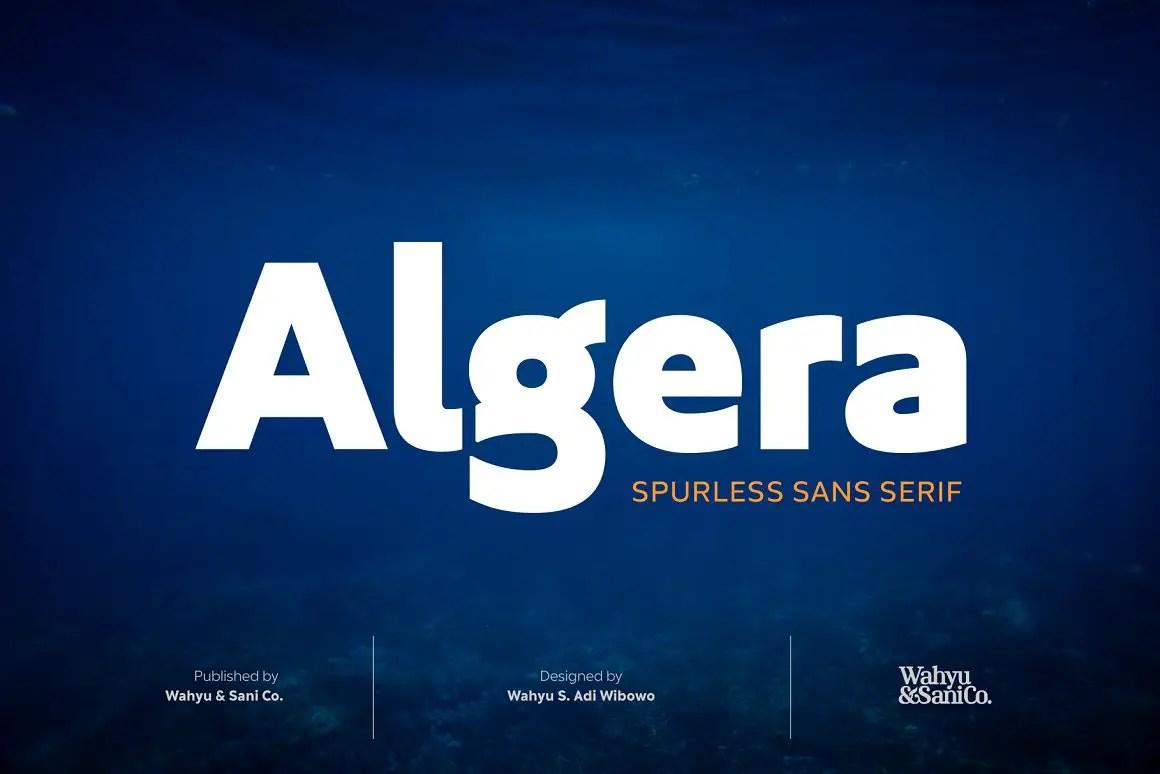 Algera Spurless Sans Serif Font-1