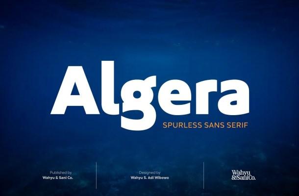 Algera Spurless Sans Serif Font