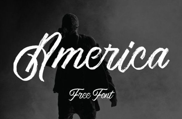 America Textured Script Brush Font
