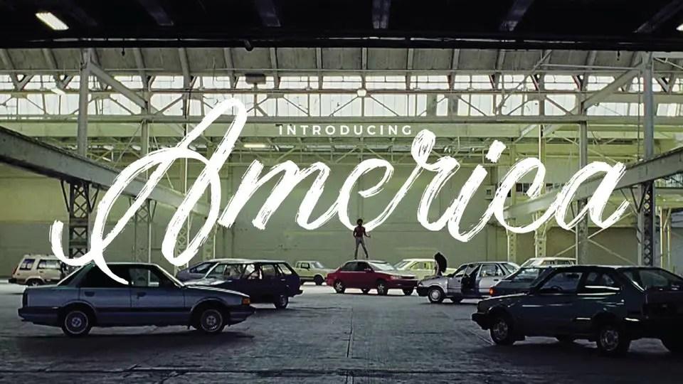America Textured Script Brush Font-2