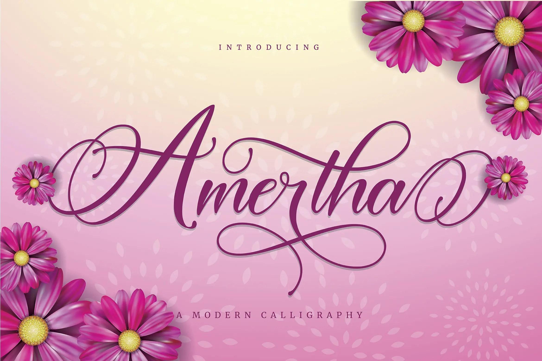 Amertha Calligraphy Script Font-1