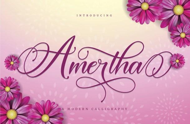 Amertha Calligraphy Script Font