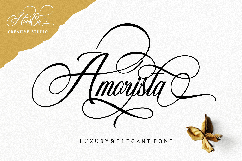 Amorista Calligraphy Script Font-1
