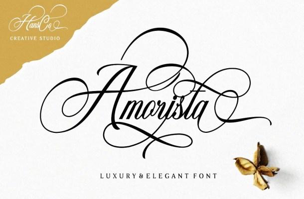 Amorista Calligraphy Script Font