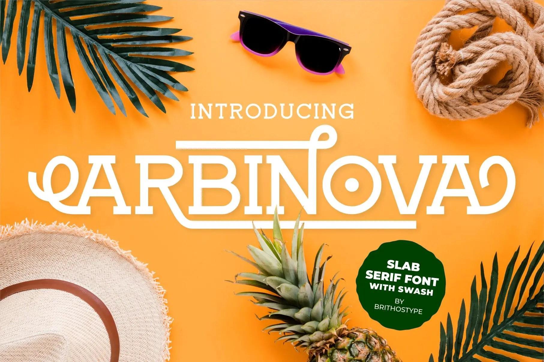 Arbinova Slab Serif Font-1