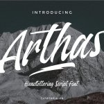 Arthas Brush Script Font