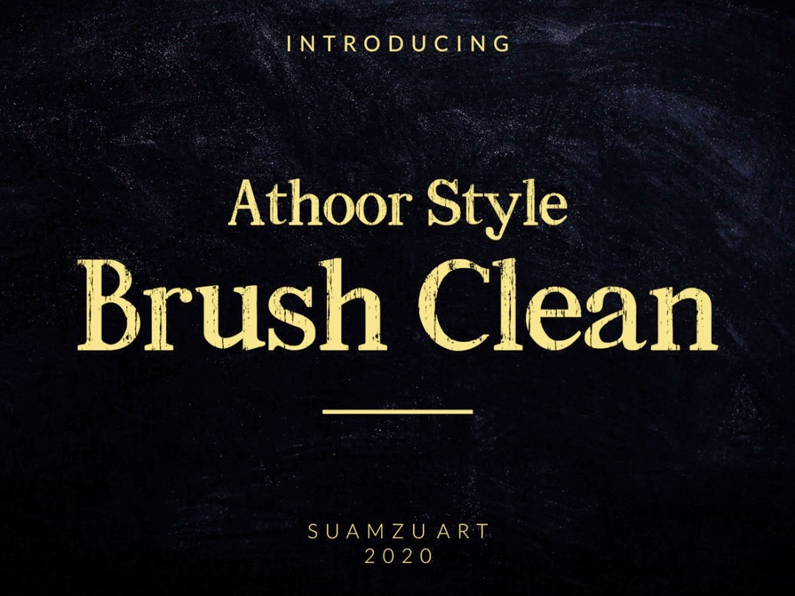 Athoor Style Brush Clean Font-1 (1)