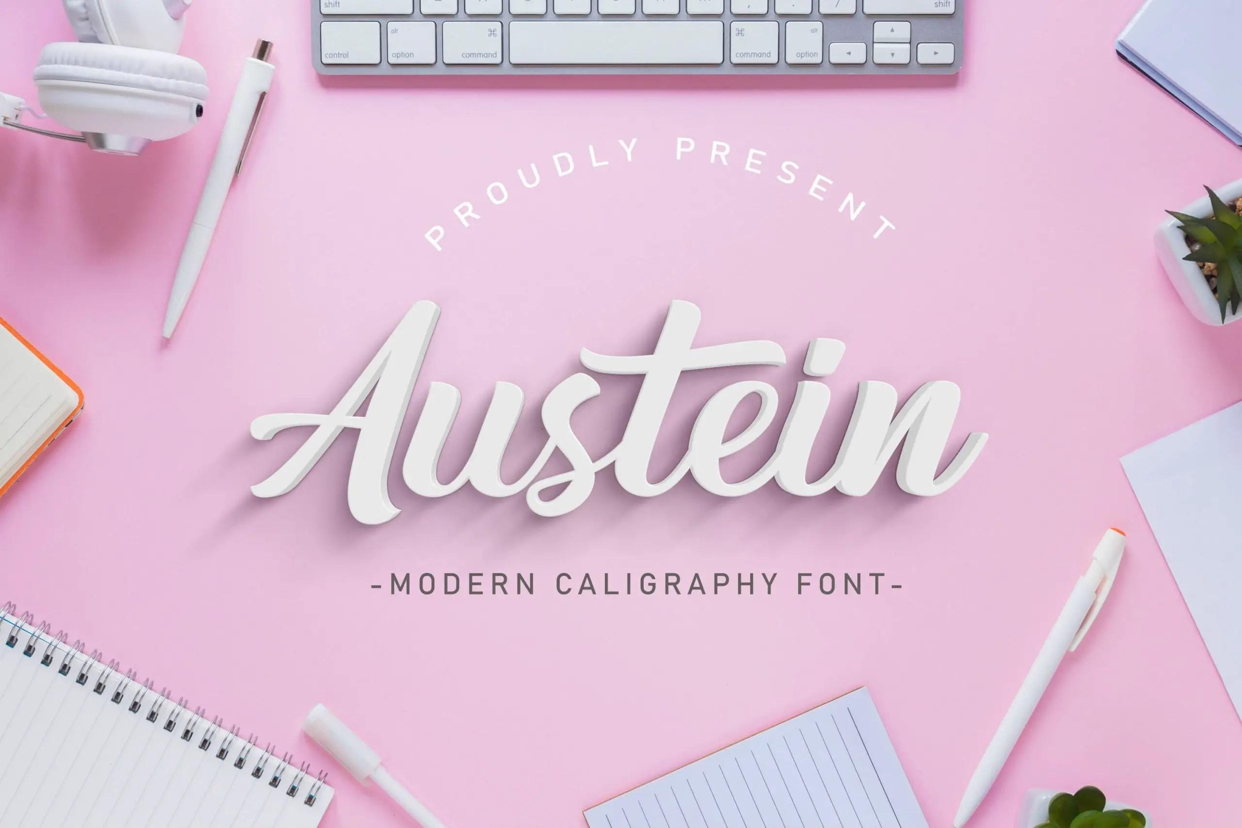 Austein Calligraphy Script Font-1