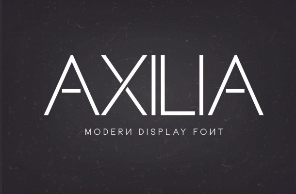 Axilia Modern Display Font