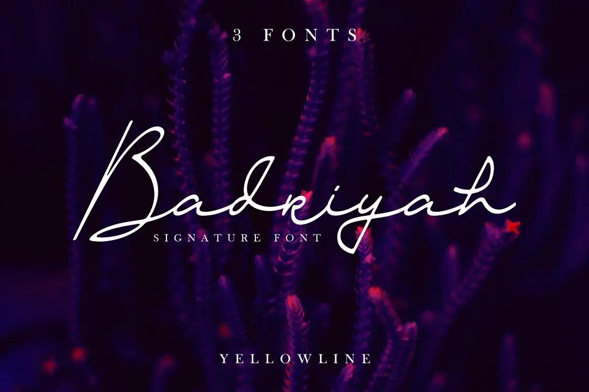 Badriyah Handwritten Script Font-1