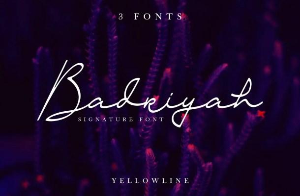 Badriyah Handwritten Script Font