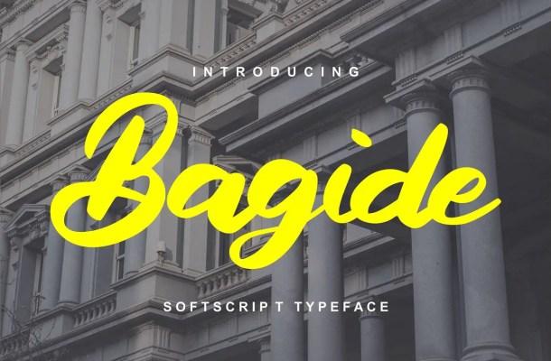 Bagide Soft Script Typeface