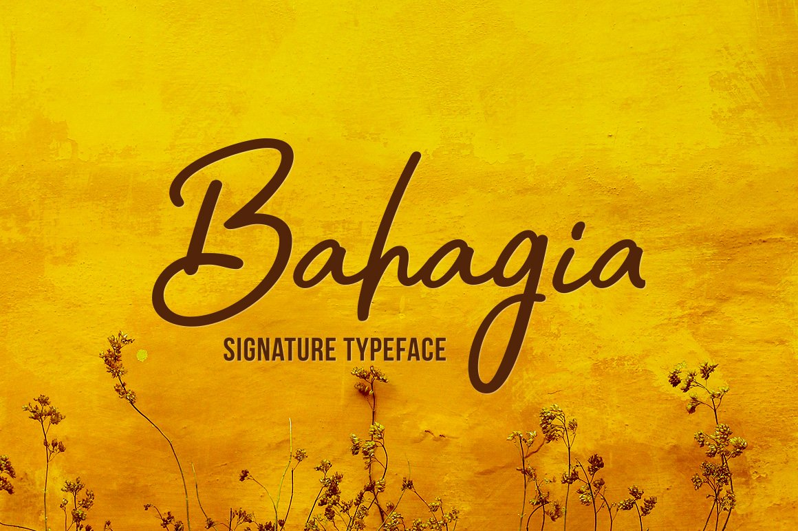 Bahagia Handwritten Typeface-1