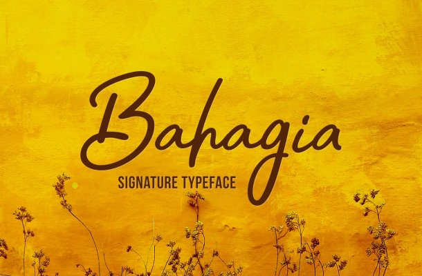 Bahagia Handwritten Typeface