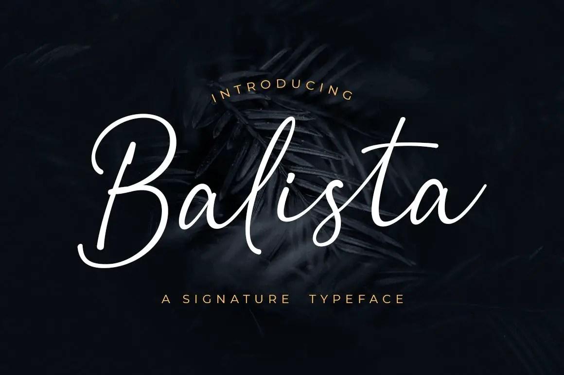 Balista Script Handwritten Font-1