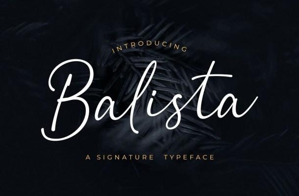 Balista Script Handwritten Font