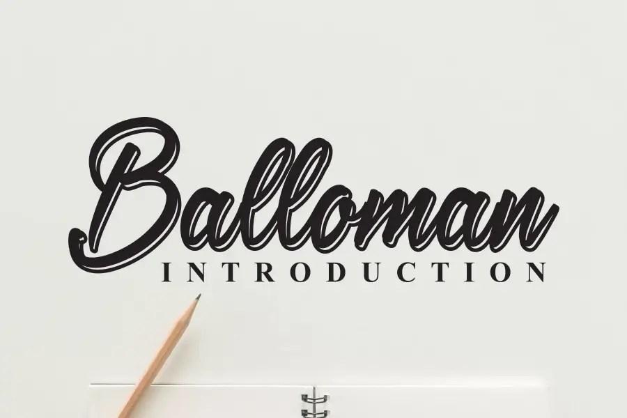 Balloman script Font-1