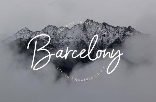 Barcelony Signature Script Font
