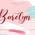 Barelyn Script Calligraphy Font