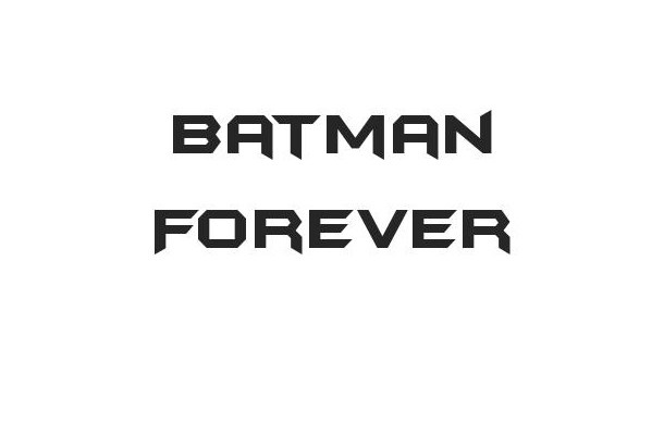 Batman Forever Techno Font