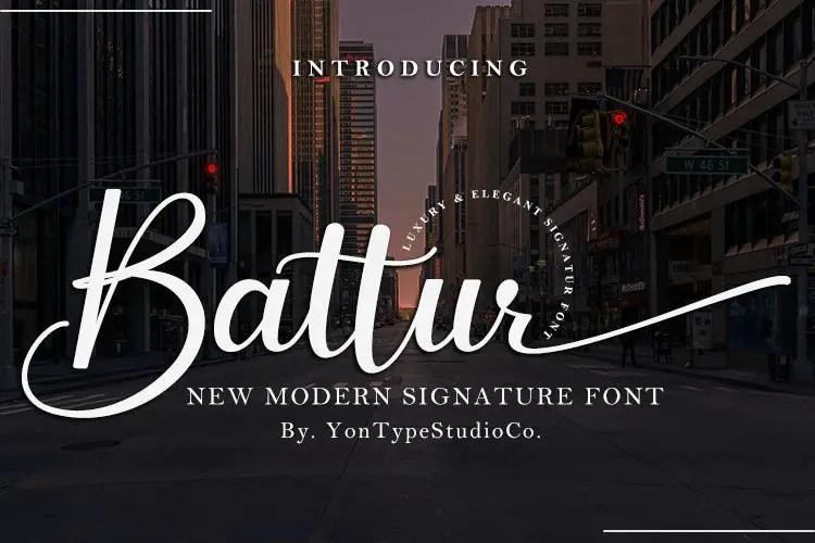 Battur Modern Signature Font-1