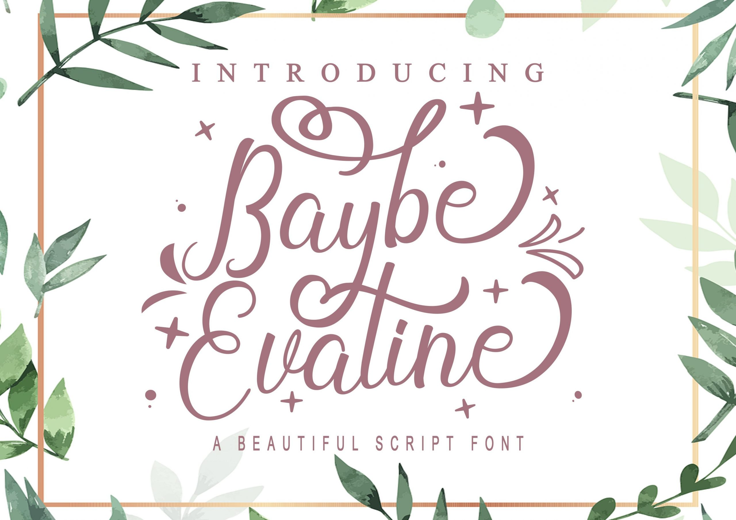 Baybe Evaline Calligraphy Script Font-1
