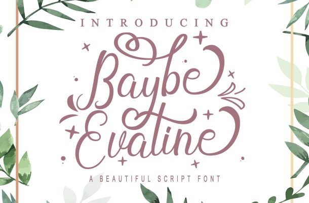 Baybe Evaline Calligraphy Script Font