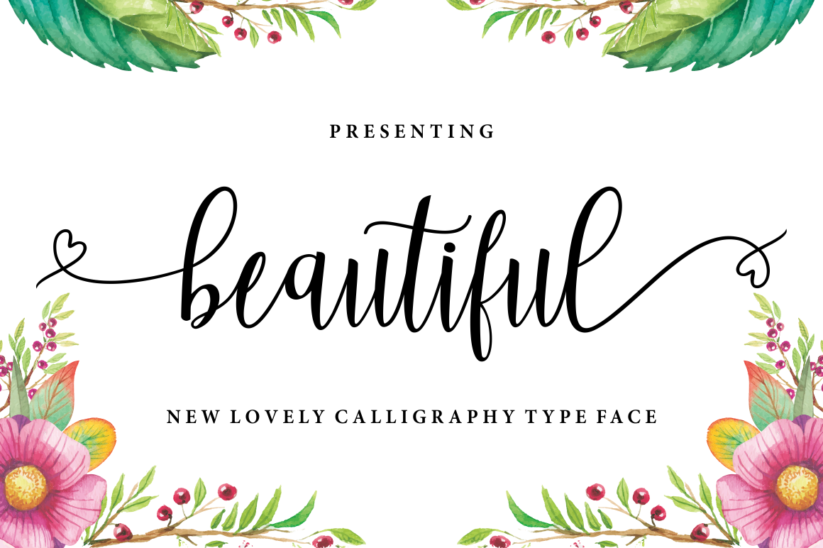 Beautiful Lovely Calligraphy Script Font-1