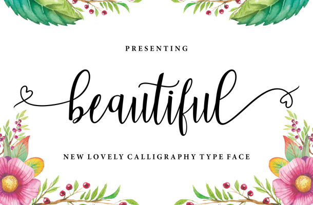 Beautiful Lovely Calligraphy Script Typeface
