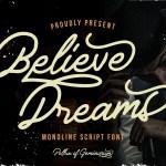 Believe Dreams Script Font