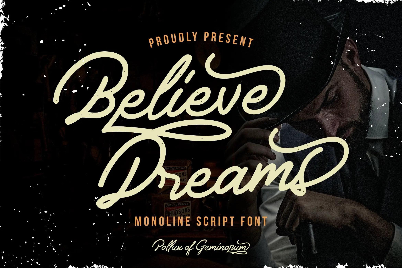 Believe Dreams Script Font-1