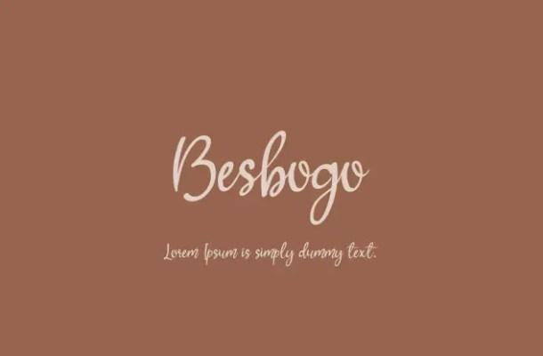 Besbogo Calligraphy Script Font