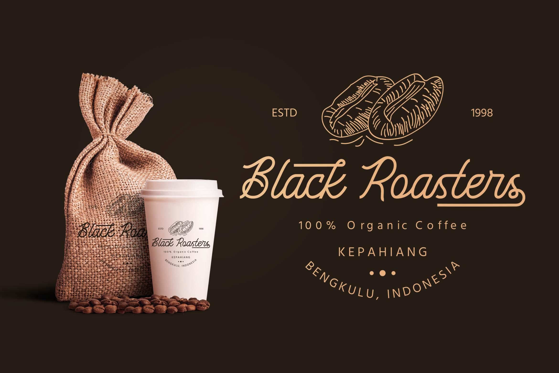 Black Roasters Monoline Typeface-2