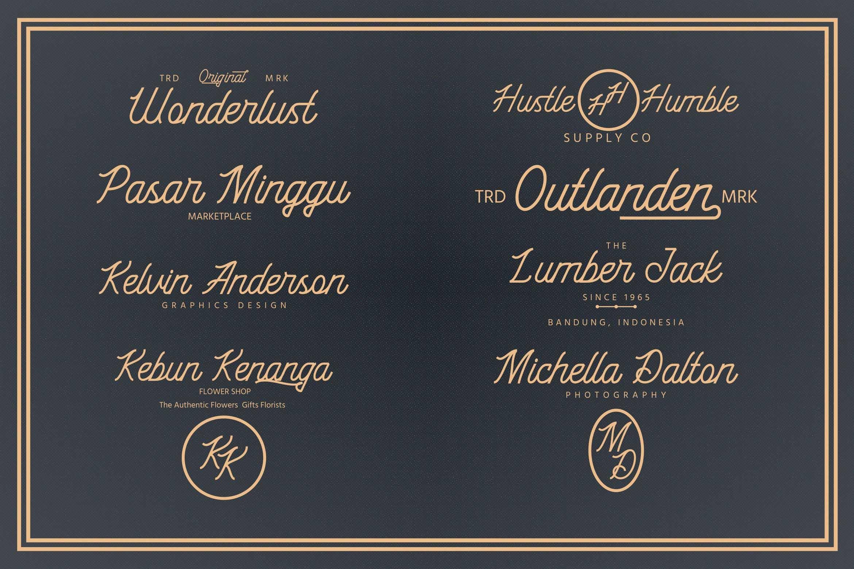 Black Roasters Monoline Typeface-3