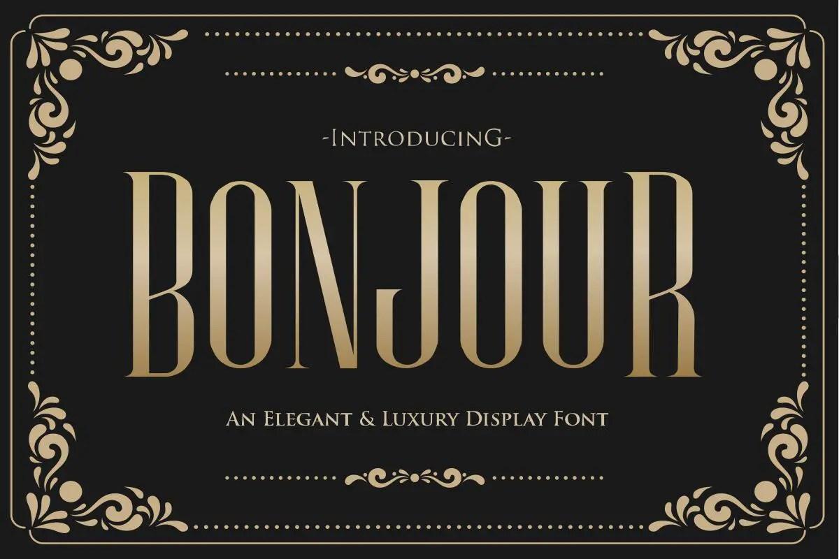 Bonjour Sans Serif Font-1