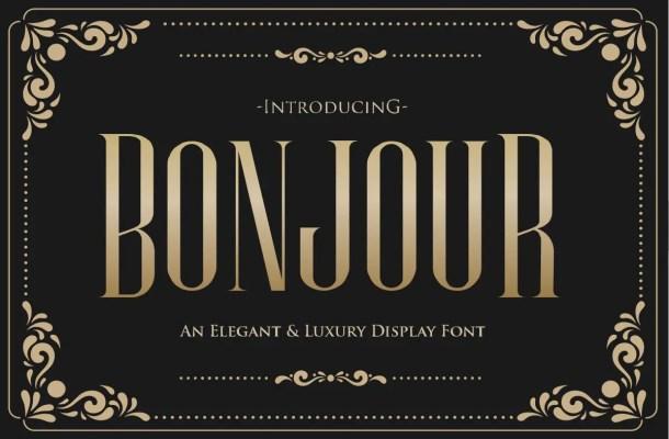 Bonjour Sans Serif Font
